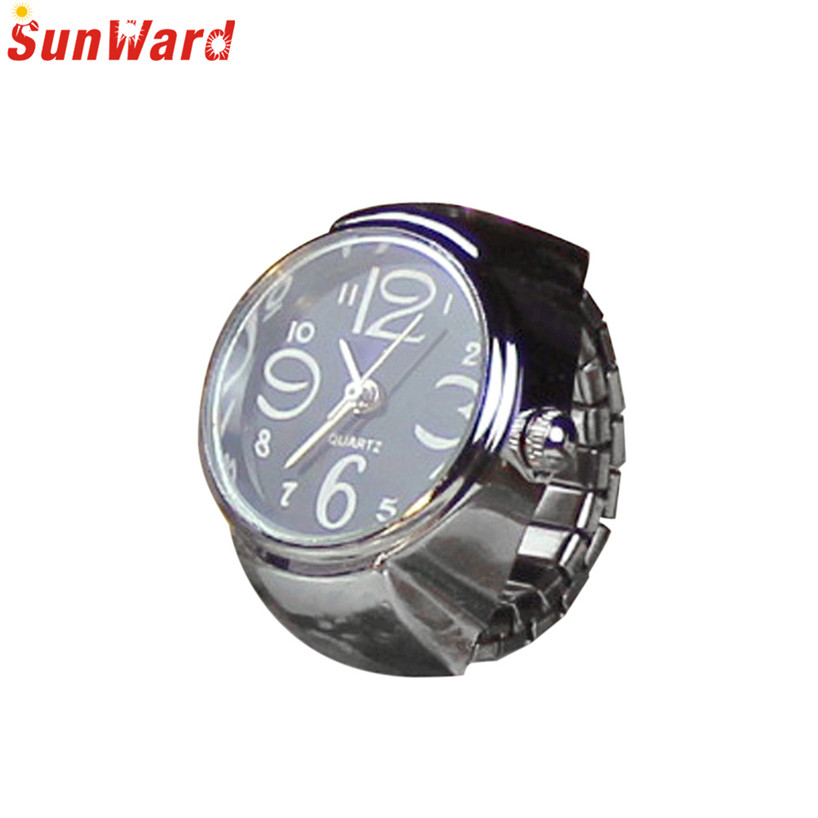 Couple Watch Dial Quartz Analog Creative Steel Cool Elastic Quartz Finger Ring Watches Women Men Ladies relogio reloj mujer New