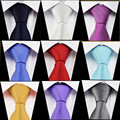 Оптовая 8 см Полосы Шеи Галстук 100% Шелк Сплошной Цвет Высокое Качество Галстук для Мужчин Gravata Corbata Stropdas Бесплатная Доставка
