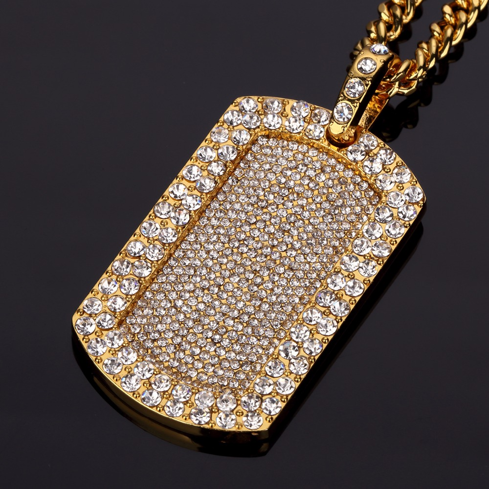Highquality Military hip hop chains for men long big Crude