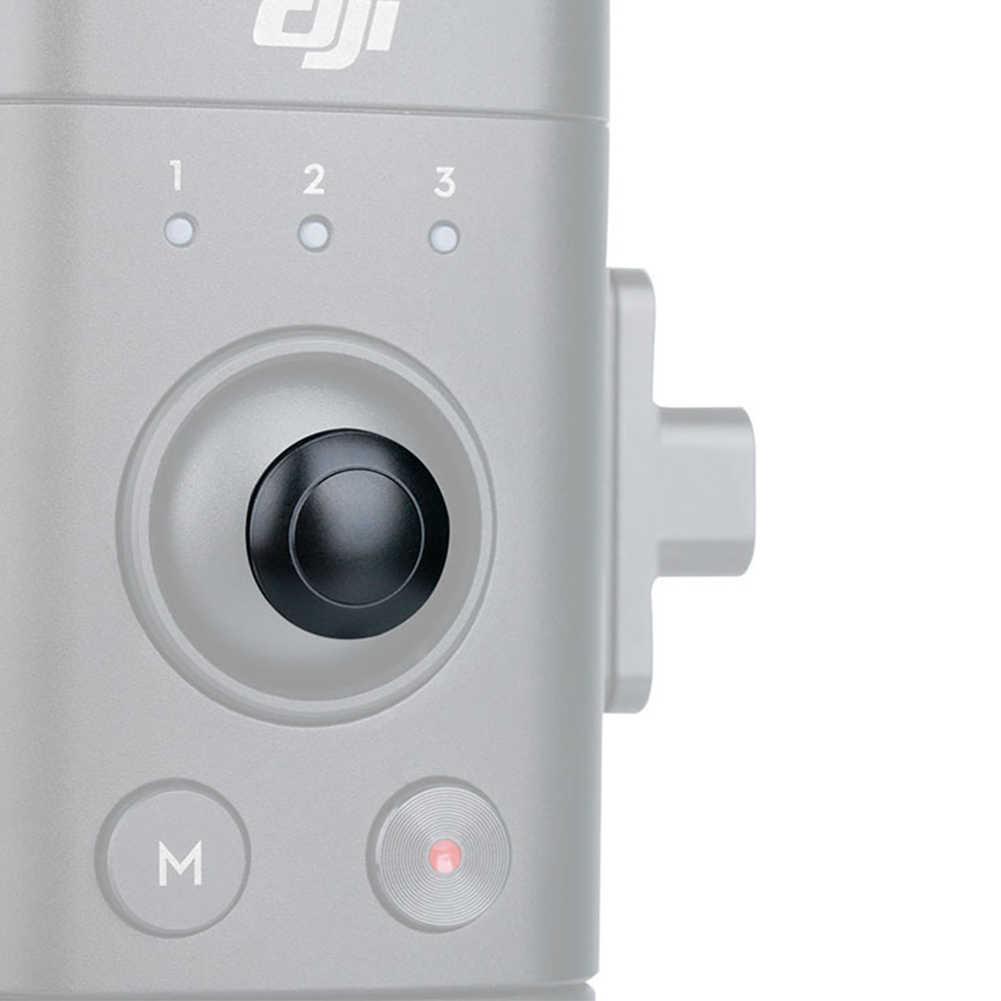 החלפת ידית ג 'ויסטיק כיסוי מתכת חלק תמונה בקרת כפתור תמיכה מייצב אביזרי כף יד עמיד עבור DJI ללא מעצורים-S