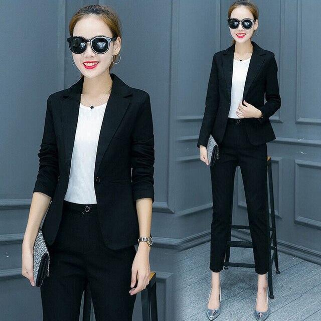 7a93d8ef516 Nuevos trajes de mujer para el trabajo, nuevos diseños de uniformes de  oficina, chaqueta