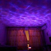 Ocean Wave Cielo Stellato Aurora LED Proiettore di Luce di Notte Luminaria Lampada Della Novità USB Lamp Nightlight Illusion Per I Bambini Del Bambino
