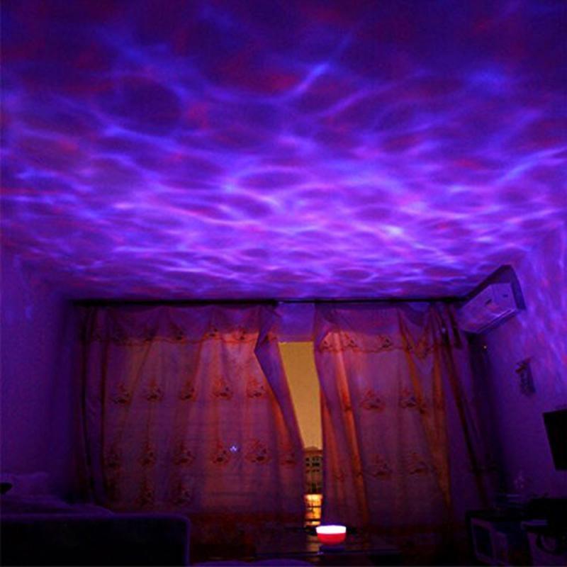 onda do oceano ceu estrelado aurora led night light projetor luminaria novidade lampada usb nightlight ilusao
