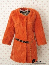 genuine natural full pelt Rabbit Fur Coat Jacket Women s real whole skin fashion fur Overcoat