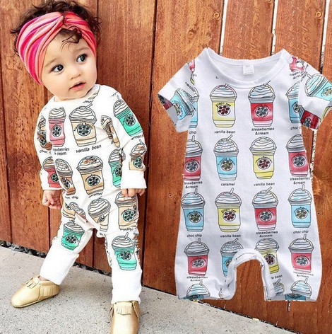 fa3d0d473 Unisex Baby Clothes Baby Boy Girl Footed Rompers Infant Ice Cream ...
