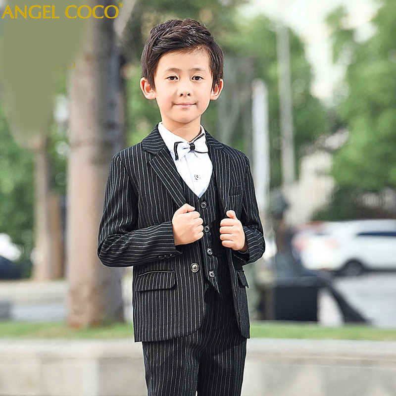 Fashion Baby Boys Kids Blazers Boy Suit For Weddings Prom Formal Black Dress Wedding Children Suits Terno Menino Costume Garcon