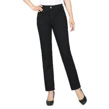 Women Black Jeans Pants Denim Straight Trousers Zipper Fly Pantalones Mujer Spring Autumn Plus Size Denim Trousers Jeans Pant jeans cotton straight leg slimming zipper fly denim pants
