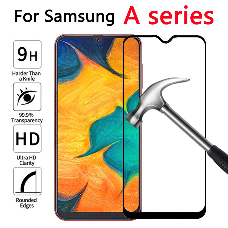 Tempered Glass For Samsung Galaxy A20 A30 A40 A50 protective Glass on the For Samsung A 20 30 40 50 A305F A405F A505F front film-in Phone Screen Protectors from Cellphones & Telecommunications