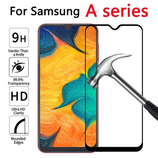Verre trempé pour Samsung Galaxy A20 A30 A40 A50 verre de protection sur le pour Samsung A 20 30 40 50 A305F A405F A505F film avant