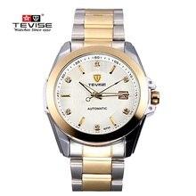 Top Brand TEVISE Hombres de Acero Reloj Mecánico Automático de Lujo Relojes Luminosos Calendario Reloj Masculino Reloj Masculino Relogio Del Reloj