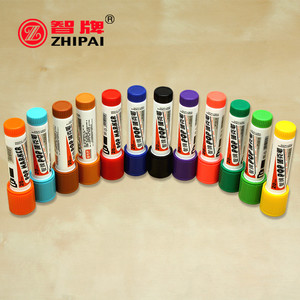 Image 3 - 4pcs/lot Hand painted oily alcohol base color Mark pen writing thickness 6/12/20/30mm board style POP pen advertising poster pen