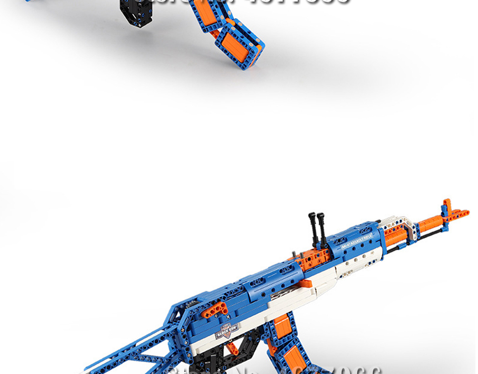 cada technic building blocks AK-47  gun  military legou toy bricks weapon set can fire  rubber band  toys for children boys kids 21