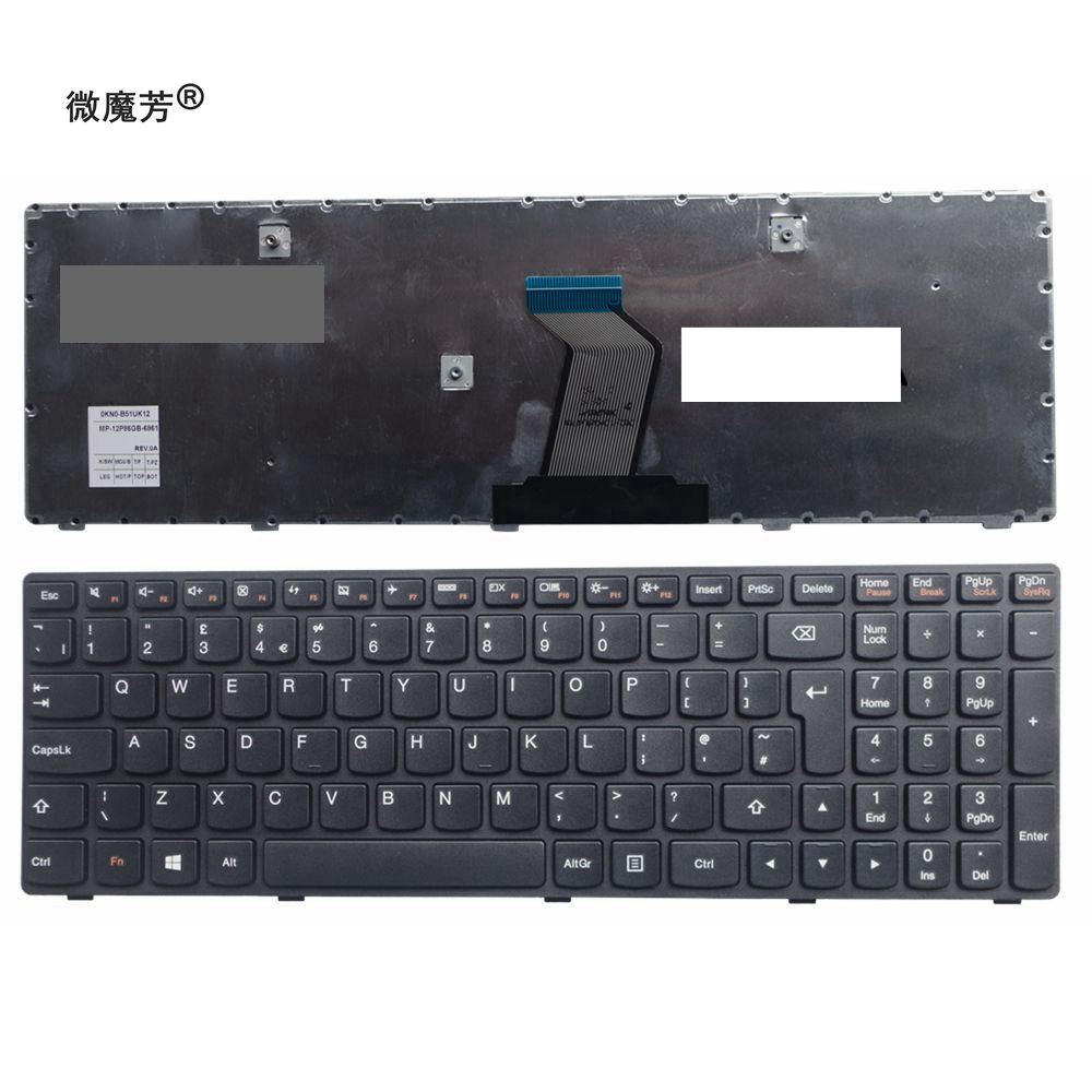 UK New laptop keyboard For LENOVO G500 G510 G505 G700 G710 G500A G505A G510 G700A G710A G500AM G700AT new original hdd bracket for lenovo g500 g505 g510 series fru 90202693