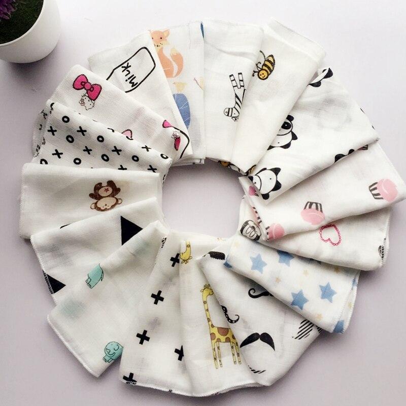 10 Stücke Baby Infant Towel 28*28 Cm Musselin Towel Taschentücher Zwei Schichten Wischen Towel