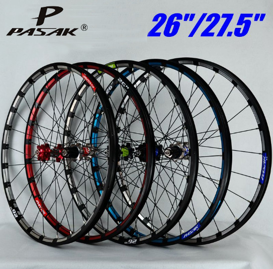Mountain bike bicycle wheel 26 27.5inch Milling trilateral front 2 rear 4 bearing japan hub super smooth wheel wheelset CNC Rim все цены