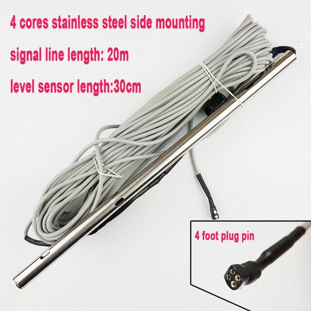 太陽エネルギー温水器温度水位センサー 30 センチメートル 4 コアステンレス鋼側取付タンクチューブプローブ CGQ18