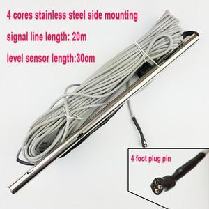 Image 1 - Sonde de niveau deau solaire 30cm, 4 cœurs, sonde de niveau deau, chauffe eau à énergie solaire, en acier inoxydable, sonde tubulaire, montage latéral