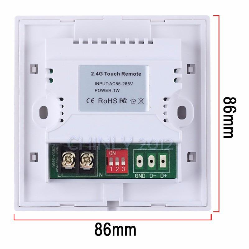 RGB Controllers 2.4G անլար Սև գույնի անջատիչ - Լուսավորության պարագաներ - Լուսանկար 4