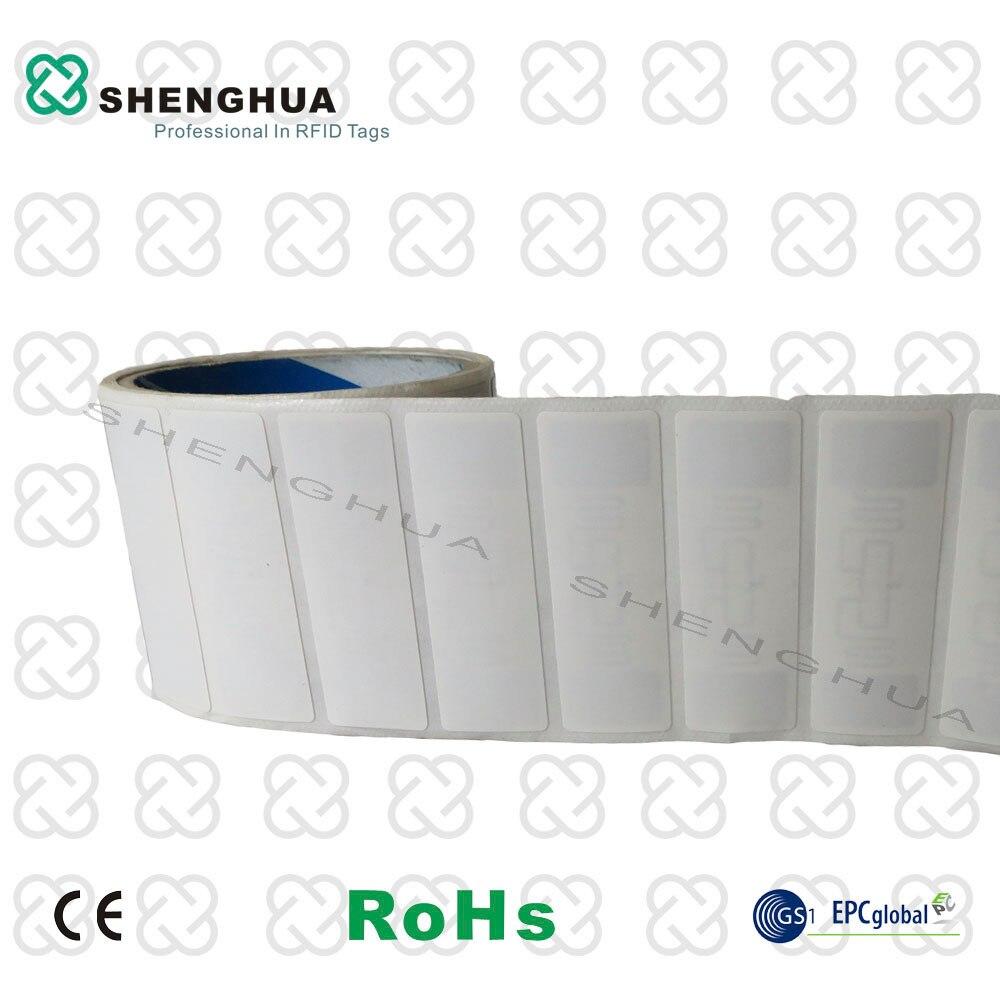 50pcs/pack ISO 18000 6C UHF RFID Tag 74*23mm Long Range RFID Label Sticker 900MHz
