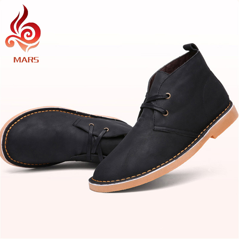 ФОТО British Style Men Winter Boots Fashion New Boots For Men Warm Men Fur Boots Casual Mens Leather Boots Size:39-44 YG99-5