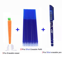 12Pcs/lot Erasable Pen Refill Rod Washable Handle 0.5mm Blue/Black/Red Ink Gel Pen for School Office Supplies Tool Stationery 12pcs lot wholesale black red blue gel pen bulk stationery hookah pen caneta material mont office accessories school supplies
