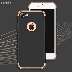 KaiNuEn luxe antichoc dur armure en plastique PC téléphone étui arrière, coque, housse, étui pour Apple iphone 7 iphone 7 accessoires 3 en 1