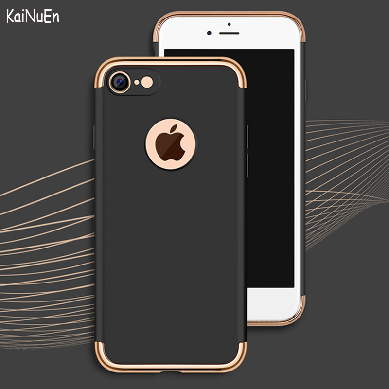KaiNuEn luxury Shockproof hard Armor plastic PC Phone back etui,coque,cover,case for Apple iphone7 iphone 7 accessories 3 in 1