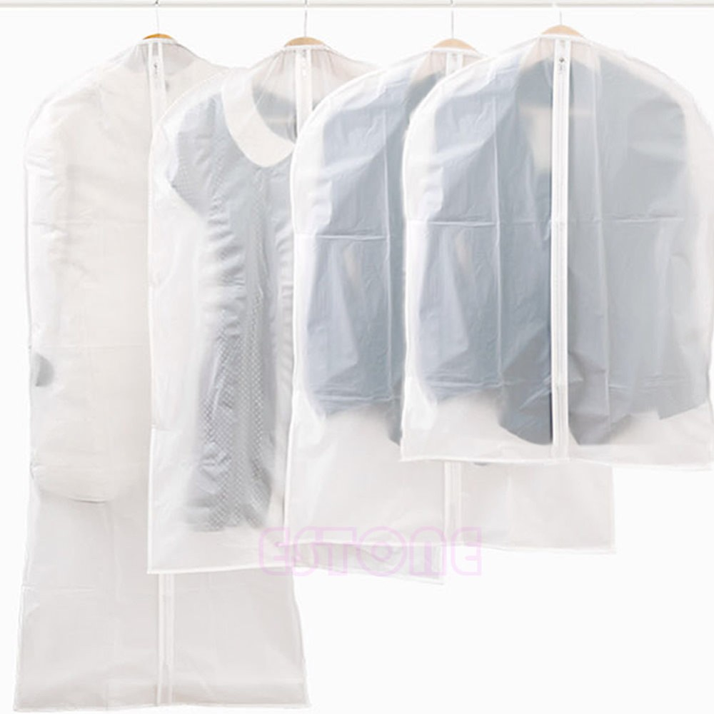 S/M/L/XL Coat Clothes Cover Bags Dustproof Hanger Garment Suit Storage Protector For Home Storage #0608# Drop shipping