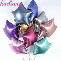 20pcs/50pcs 18inch Chrome Metallic Matte Metal Heart Star Round Helium Foil Balloons Wedding Baby Birthday Party Decoration