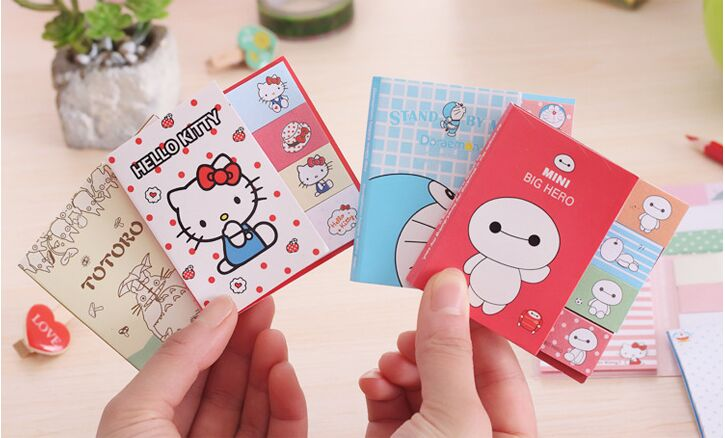 Kawaii Animal Character Sticky Notes Memo Pad Post It Post-it Sticker Office Stationery Planner Notepad Notebook Scrapbook