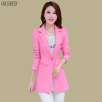 Blazer Women Suit 2020 New Long Sleeve Blazers Women Clothing Long Slim Spring And Autumn Suits Female Outerwear Blue 2020 fashion hot new women blazers and jackets long sleeve slim blazer ruffle short blazer design candy color outerwear