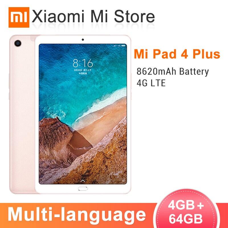 Xiao mi mi Pad 4 Plus 4 GB 64 GB Snapdragon 660 mi Pad 4 Mais LTE 8620 mAh Da Bateria 10.1 ''16:10 1920x1200 FHD Exibição 13MP 4 Comprimidos