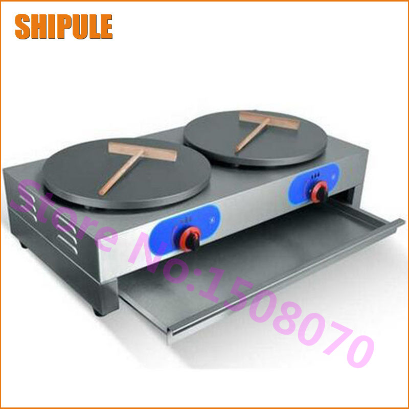 SHIPULE 2018 New Arrival Round Crepe Maker Gas Commercial Crepe Pancake Maker Machine Best Selling 1pcs new arrival 40cm pan pancake griddle stove lpg commercial pancake machine pancake stove ship to your home