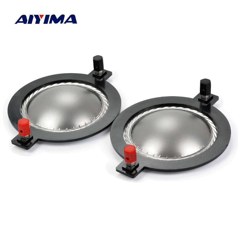 AIYIMA 2 pièces 74.5mm Aigus Bobine Enceintes Titane Film Tweeter Bague Diaphragme Vocal Haut-Parleur Accessoires bricolage