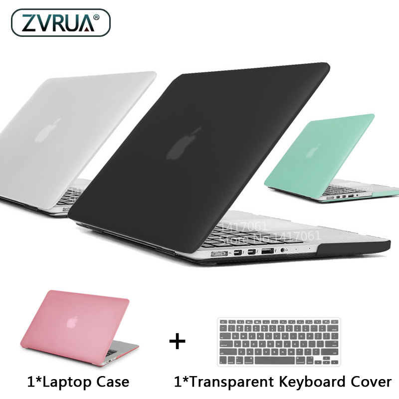 ZVRUA Best Laptop Case For MacBook 13 15 Inch Pro With Retina A1502 A1398 / CD ROM A1278 A1286 + Keyboard Cover