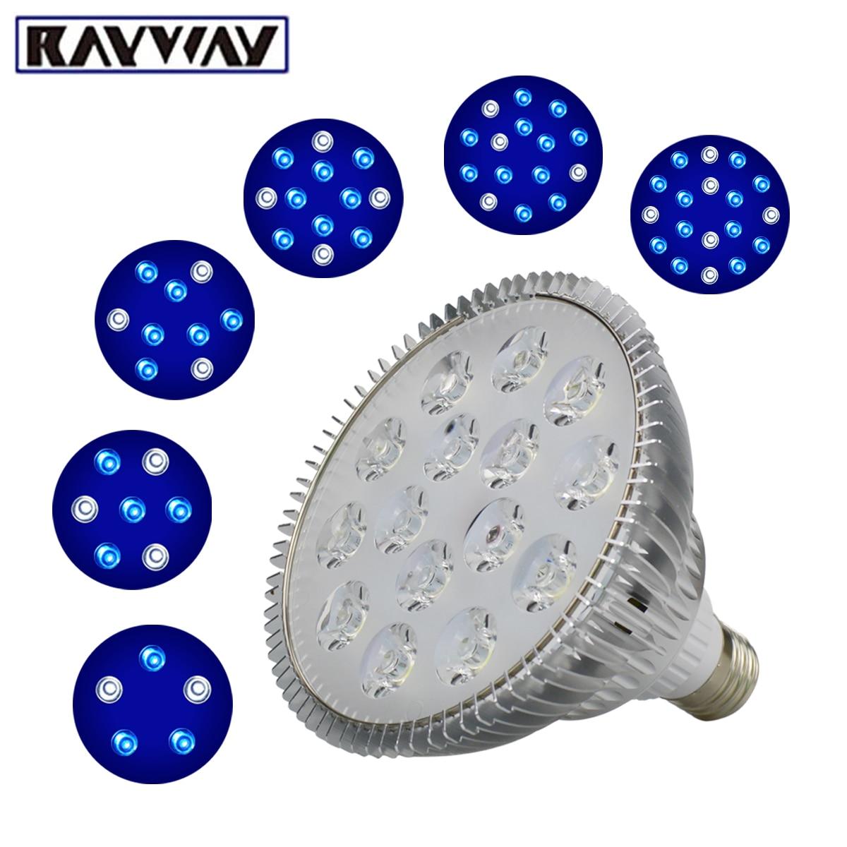 UV IR Red 54W LED Aquarium Light Led Pet Lighting Fish Tank Lamp Plant Bulb For Saltwater Marine Coral Reef Sump Algae