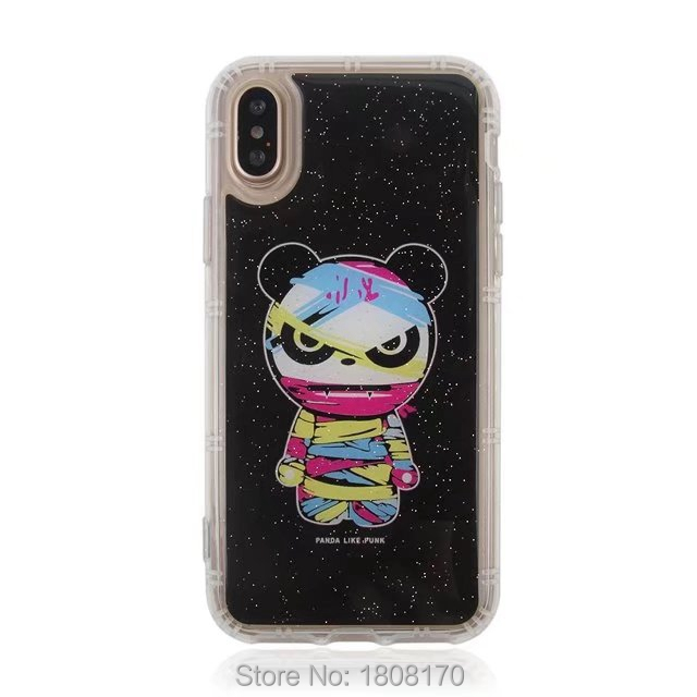 Anti Gravity Sticky Case For iPhone X IphoneX Selfie Hybrid TPU Flower Cartoon Fashion Stick On The Wall Back Phone Cover 60pcs