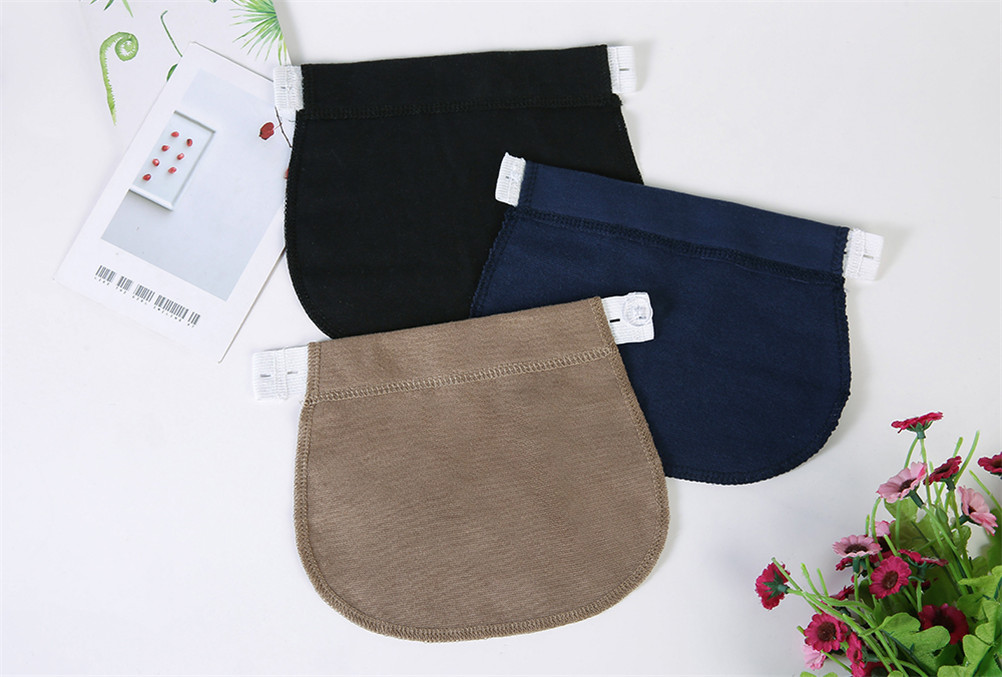Extender Belt Maternity-Pregnancy-Waistband Pants Elastic-Waist New Hot Navy-Blue/khaki title=