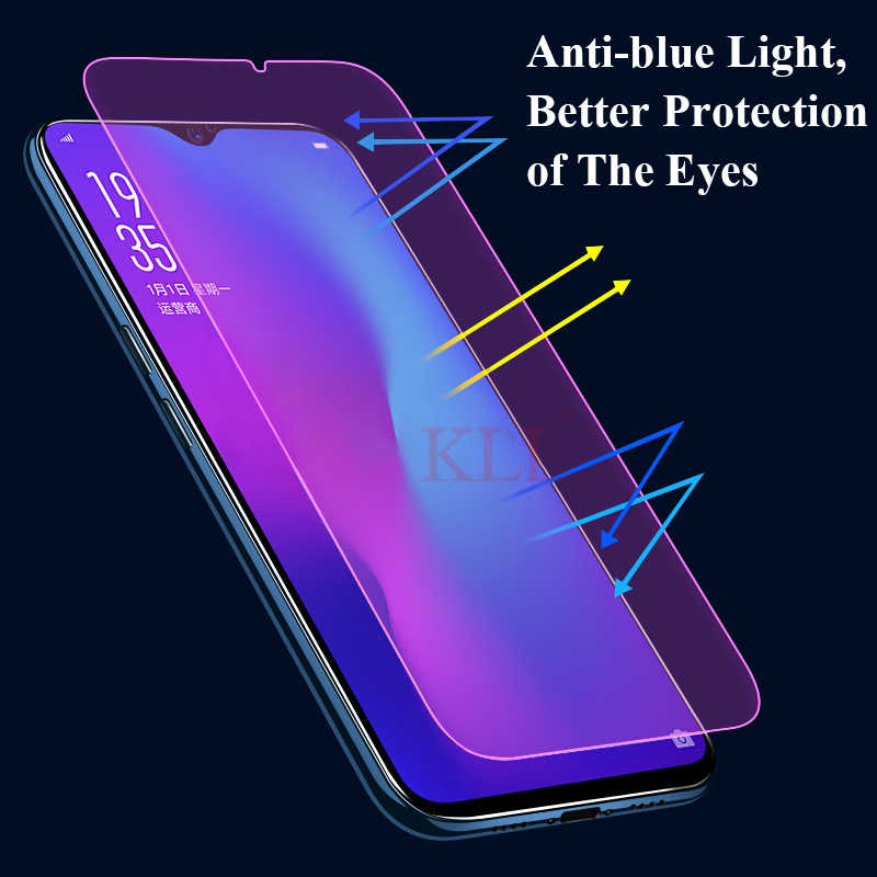 2 5D Anti-blue Full Coverage Tempered Glass for OPPO R17 R15 R15X F7 9H  Hardness Glass for OPPO A5 A3 A1 Screen Protector Film