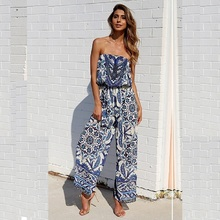Women's Fashion Sexy Belted Women's Jumpsuit Jumpsuit Loose-High Waist Summer Workwear Jumpsuit Beach Wide Leg Jumpsuit Fit buttoned pocket belted palazzo jumpsuit