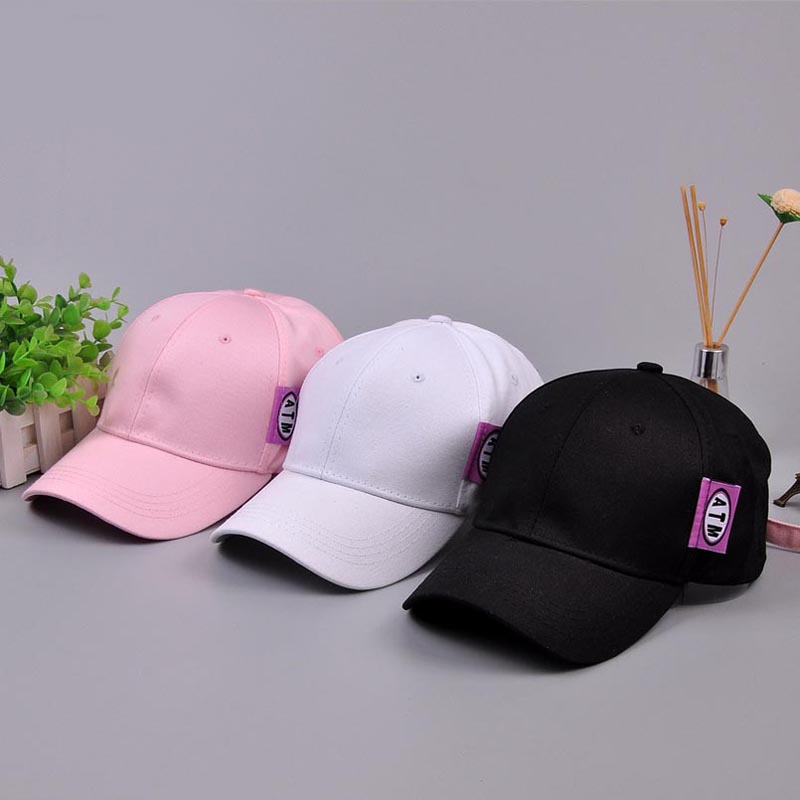 ATM Embroidery Cotton Baseball Cap For Women Men Casual Snapback Hip Hop Gorras Casquette Fashion Solid Color Drake Hats Dad Hat new fashion women beauty baseball cap hat embroidery floral snapback white pink black solid casual casquette girl gorras hats