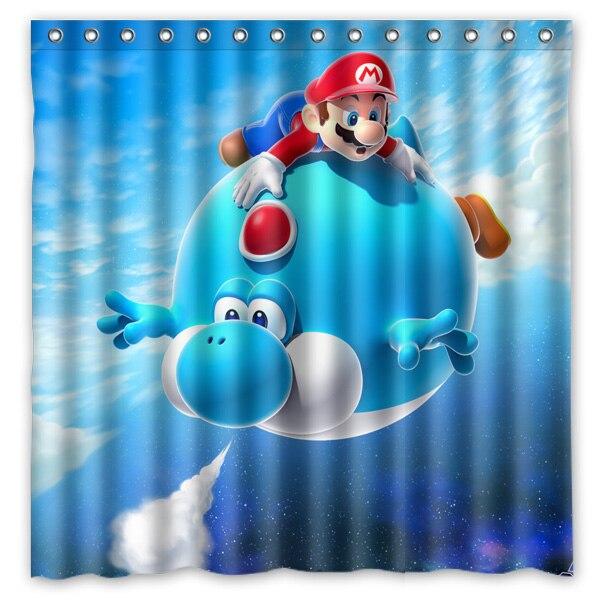 72x72 Waterproof Shower Curtain Bathroom Super Mario Eco Friendly Bath Curtains Welcome Custom