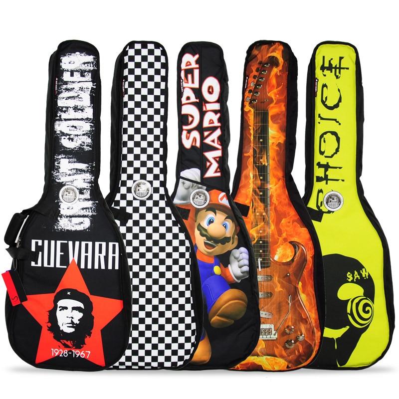 משלוח חינם 40/41 אינץ 'כתף תיק גיטרה, - כלי נגינה