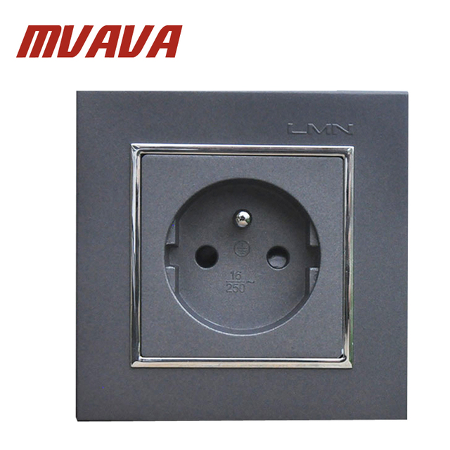 MVAVA French Standard Wall Power Socket Electrical Wiring Outlet AC ...
