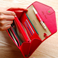 wallet women billeteras para mujer carteras phone purse card wallets envelope carteira portefeuille femme pu leather purses