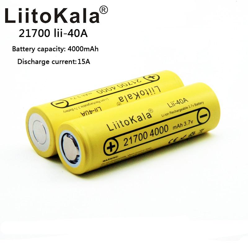 2019 LiitoKala 21700 battery Lii-40A Original 21700 4000mAh 40A Rechargeable E Cigarette Battery fits CAPO 2019 LiitoKala 21700 battery Lii-40A Original 21700 4000mAh 40A Rechargeable E Cigarette Battery fits CAPO