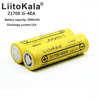 2020LiitoKala 21700 4000mah akumulator litowo 40A 3 7V 10C rozładowania wysokiej mocy baterie wysoki odpływ baterie tanie i dobre opinie lii-40A 21700 4000mah Li-ion 3500 mAh Baterie Tylko 1-20 18650