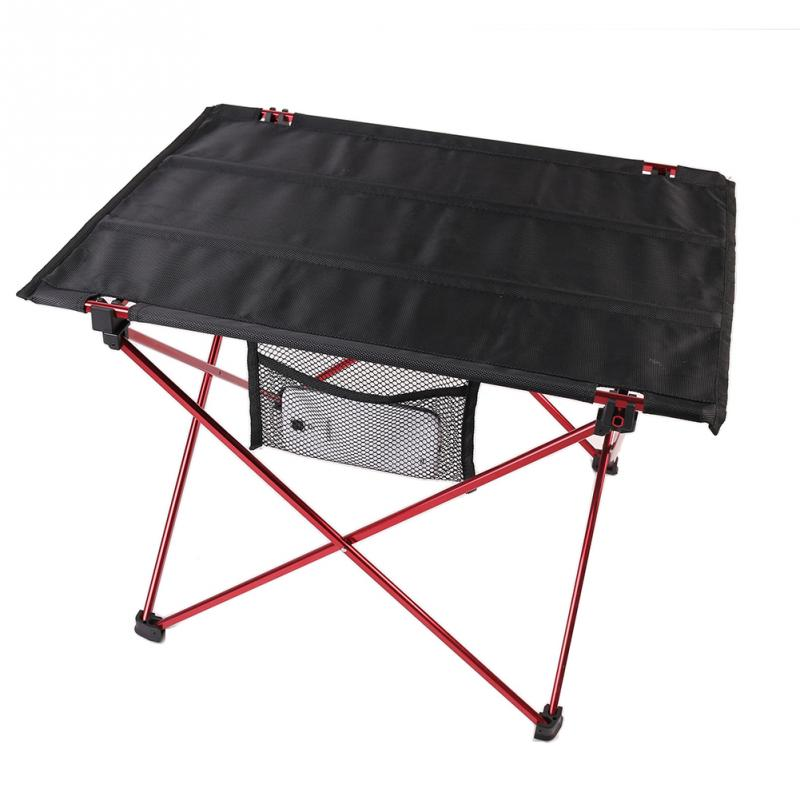 portable aluminum roll up folding table outdoor camping picnic table ultra light in outdoor. Black Bedroom Furniture Sets. Home Design Ideas