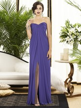 Cheap New A line Long Backless Chiffon Prom Gown Floor Length Split Front Side font b
