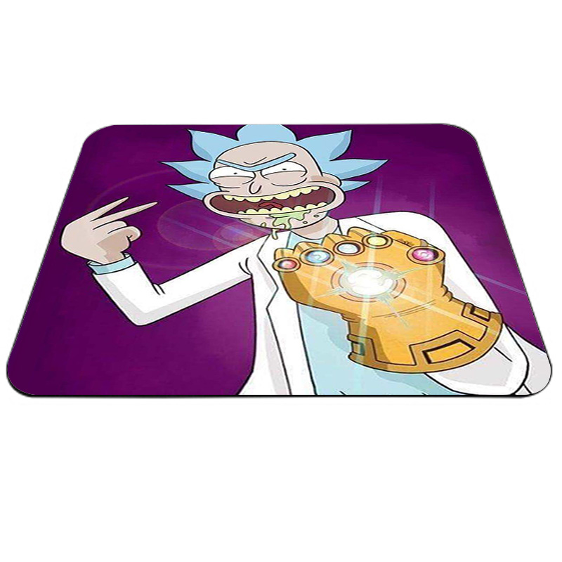 New Printed Rick And Morty Anime Large Edge Control Mats  Large Mouse Pad PC Computer Mat Size For Game Mousepad
